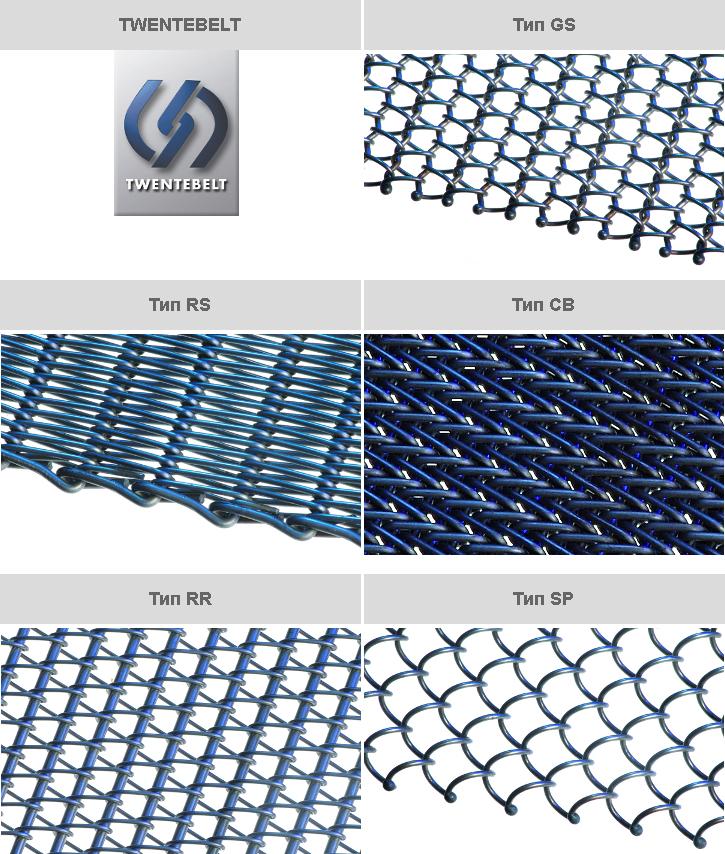 Photo featuring spiral wirelink belt types