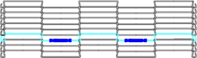 Image making wire mesh conveyor belt endless using tubes - step 4