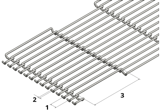 Image featuring wire mesh belt specification for the request form